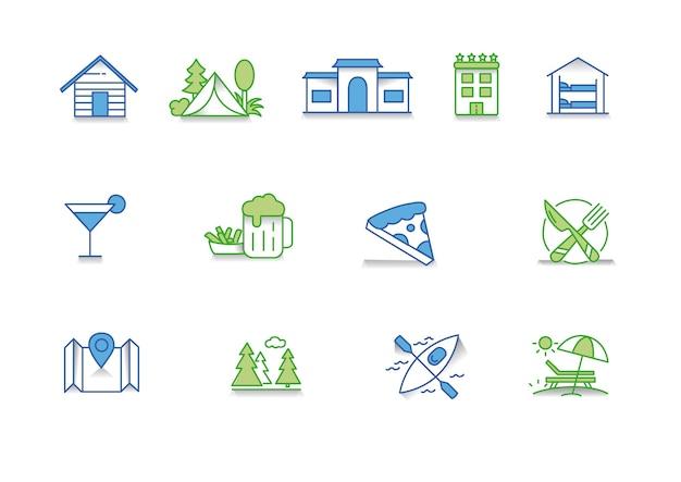 Icon Set Turism Vecteur Premium