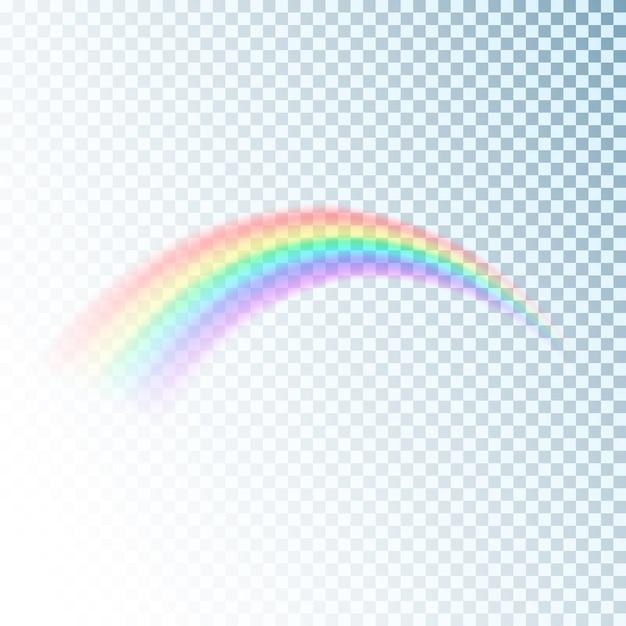 Icône Arc-en-ciel. élément De Design Lumineux Et Lumineux Coloré Pour La Décoration. Image D'arc-en-ciel Abstraite Isolée Sur Fond Transparent Vecteur Premium