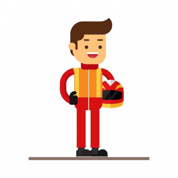 Icône d'avatar de personnage homme. course sportive Vecteur Premium