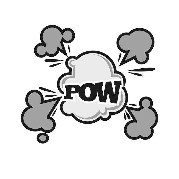 Icône de bande dessinée bande dessinée bulle sonore son nuage nuage vecteur bande dessinée plat Vecteur Premium