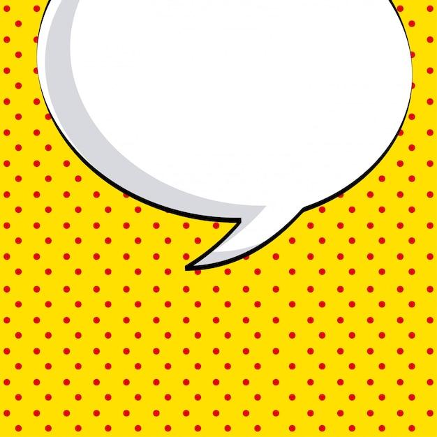 Icône de la bande dessinée sur l'illustration vectorielle fond pointillé Vecteur Premium