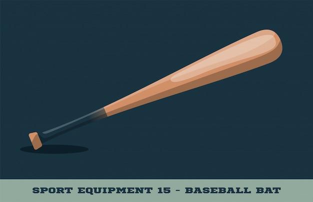 Icône de batte de baseball Vecteur Premium