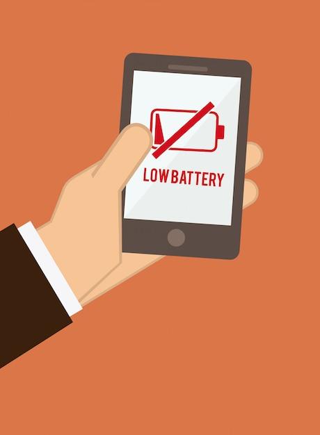 Icône De La Batterie Vecteur Premium