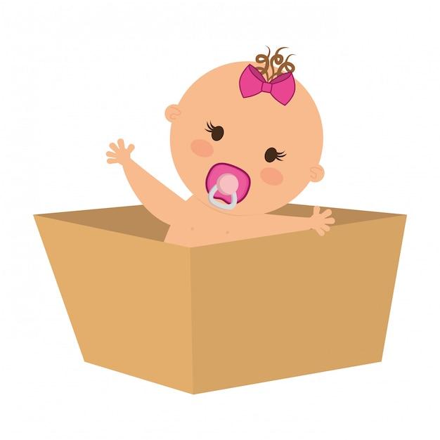 Icône de bébé mignon Vecteur Premium