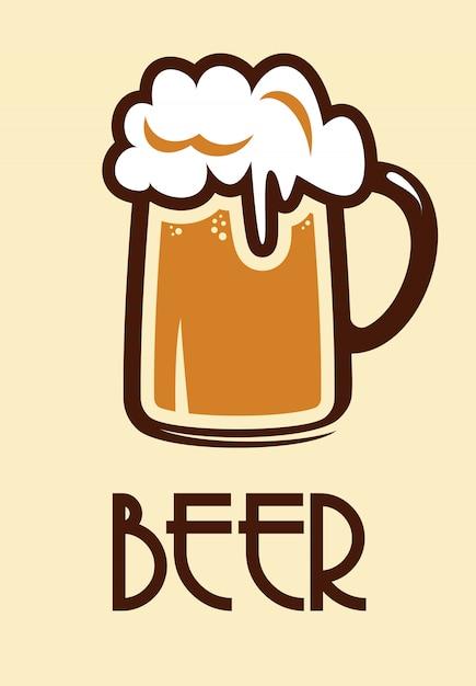 Icône de la bière Vecteur Premium