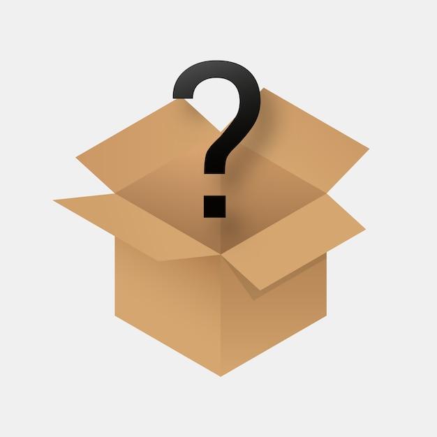Icône de boîte mystère. Vecteur Premium