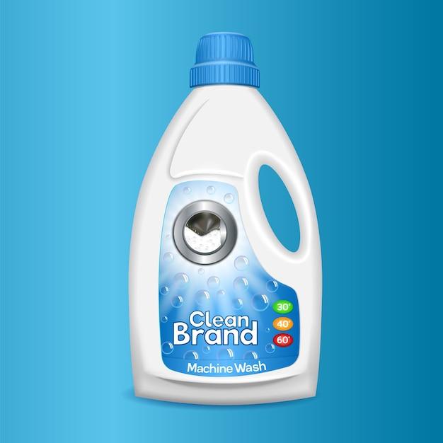 Icône de bouteille de lavage propre. Vecteur Premium