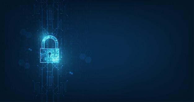 Icône de cadenas avec trou de serrure dans la sécurité des données personnelles. Vecteur Premium