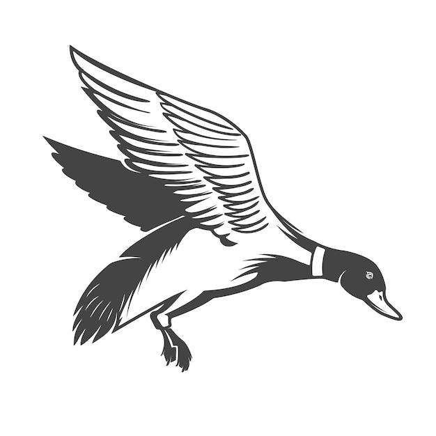 Icône De Canard Sauvage Sur Fond Blanc. éléments Pour Logo, étiquette, Emblème, Signe. Illustration Vecteur Premium