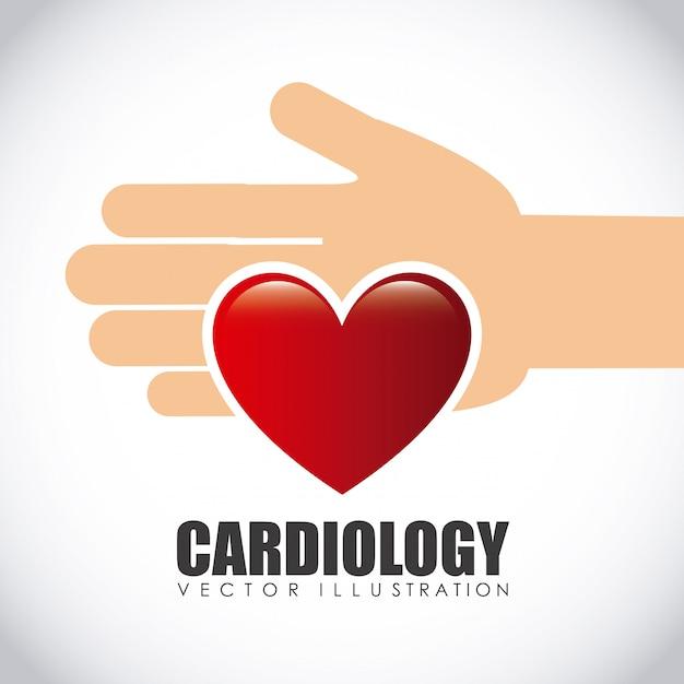 Icône de cardiologie Vecteur Premium