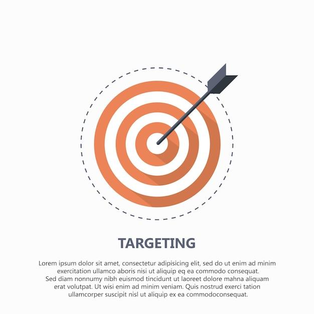 Icône cible pour les entreprises ou le sport Vecteur gratuit