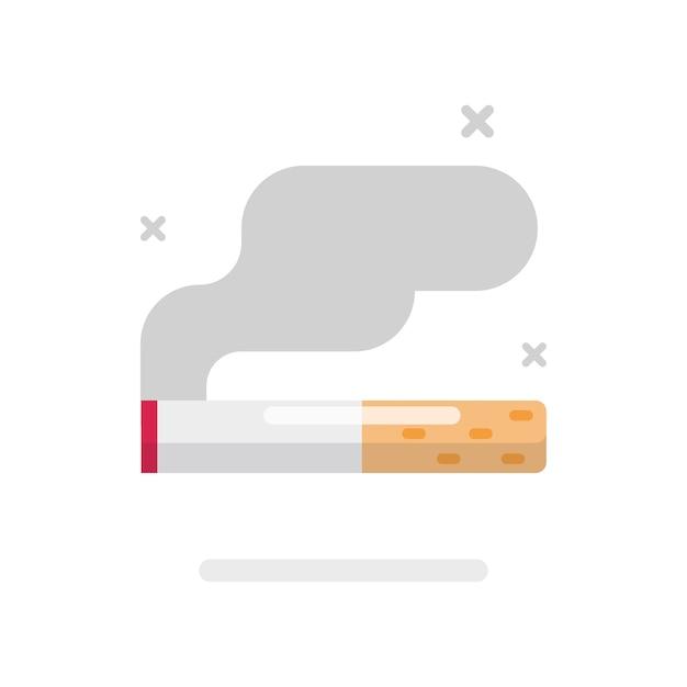Icône de la cigarette de fumer Vecteur Premium