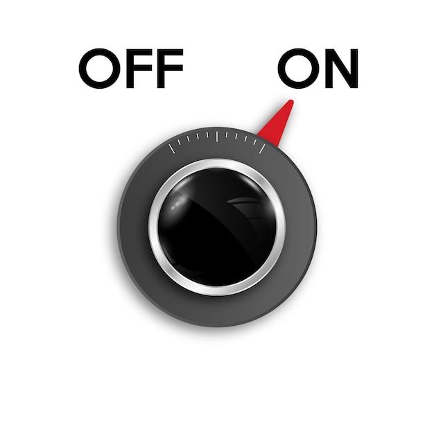 Icône de commutateur à bascule on / off. Vecteur Premium