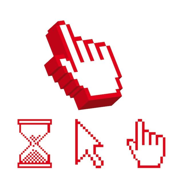 Icône de curseur sur fond blanc, illustration vectorielle Vecteur Premium