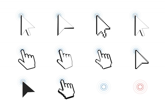 Icône de curseur pixel Vecteur Premium