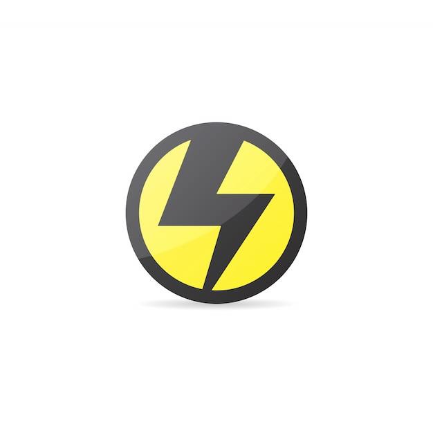 icône de l électricité ou logo vector design télécharger des