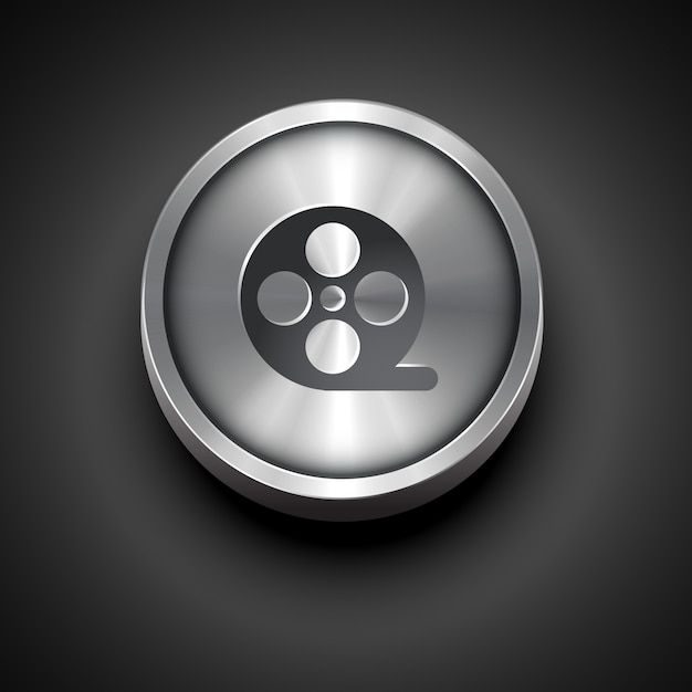 icône de vecteur en métal Vecteur gratuit