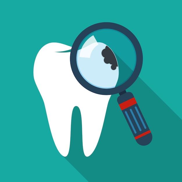 Icône De Dent Fissurée. Illustration. Vecteur Premium