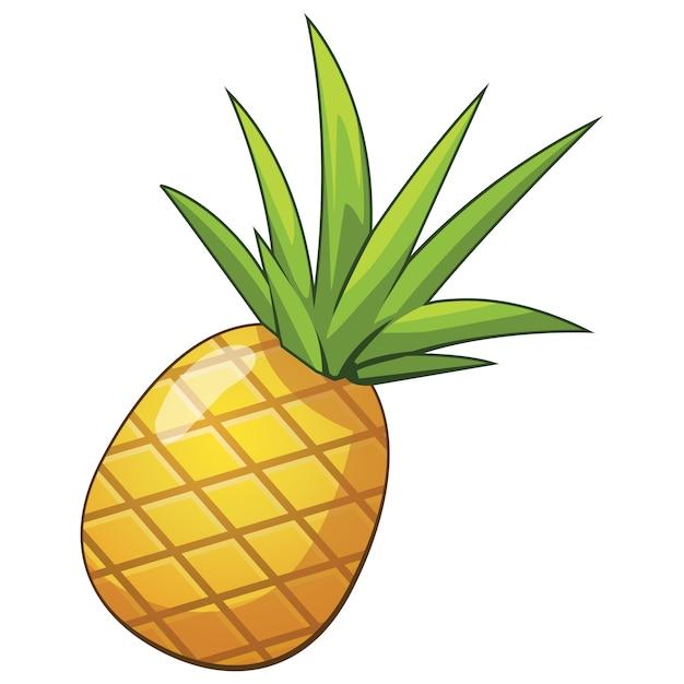 Icône De Dessin Animé Ananas Télécharger Des Vecteurs Premium