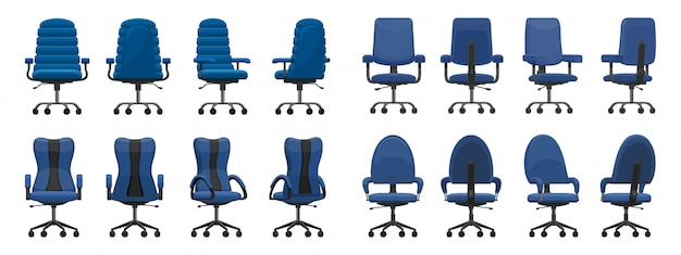 Icône De Dessin Animé Isolé Chaise De Bureau Vecteur Premium