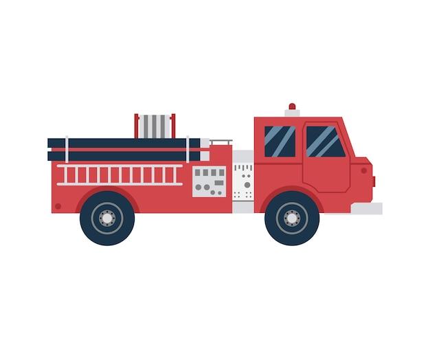 Icône De Dessin Animé De Voiture De Pompier Ou De Lutte Contre Les Incendies Vecteur Premium