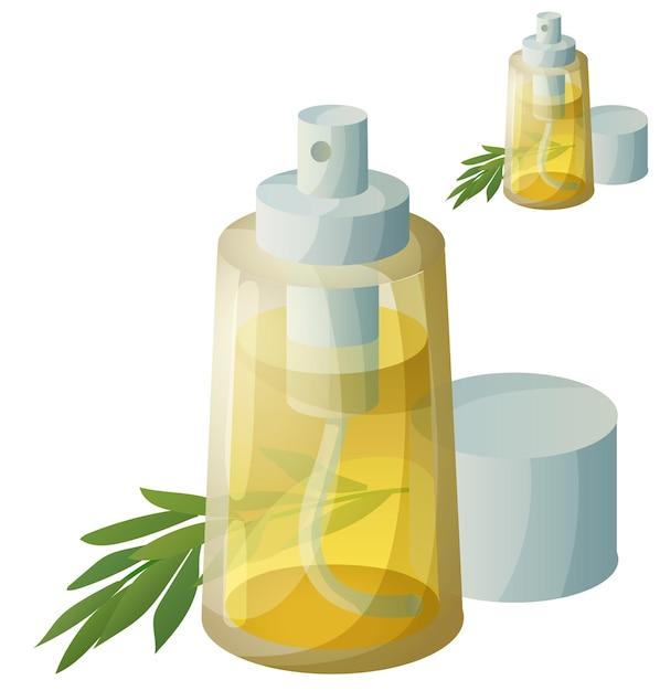 Icône Détaillée. Spray D'huile De Cuisson Isolé. Vecteur Premium