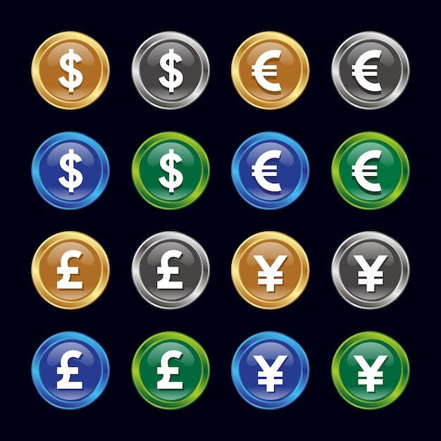 Icone De Devise Dollar Euro Livre Yen Telecharger Des