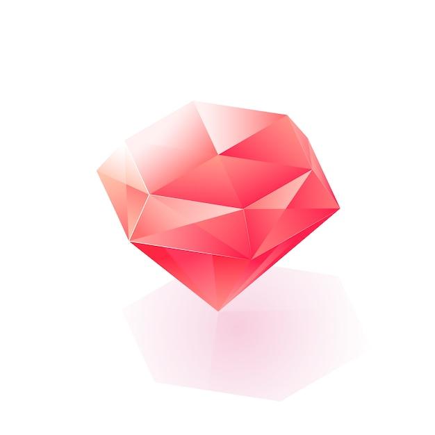 Icône De Diamant De Lumière Isométrique Scintillante Vecteur gratuit