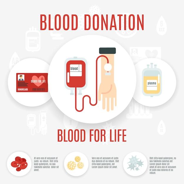Icône de donneur de sang Vecteur gratuit