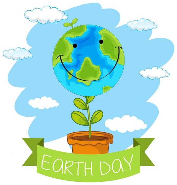 Une icône du jour de la terre Vecteur gratuit