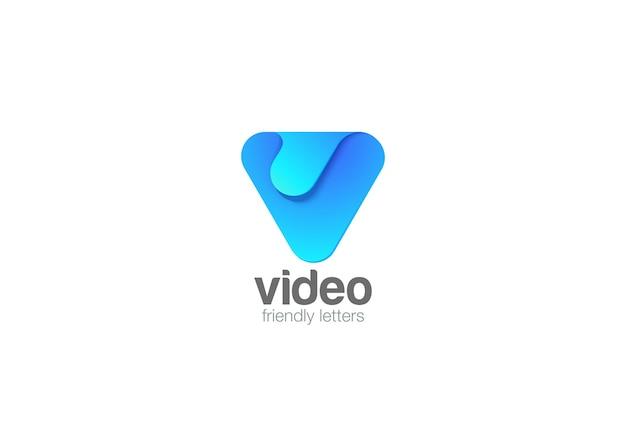 Icône Du Logo Lettre V. Vecteur gratuit