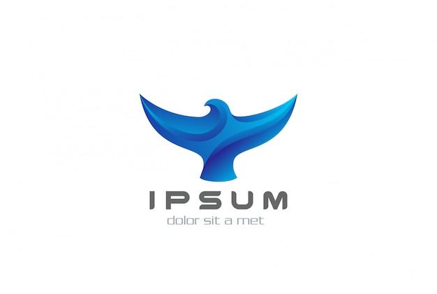 Icône Du Logo Oiseau Abstrait. Vecteur gratuit