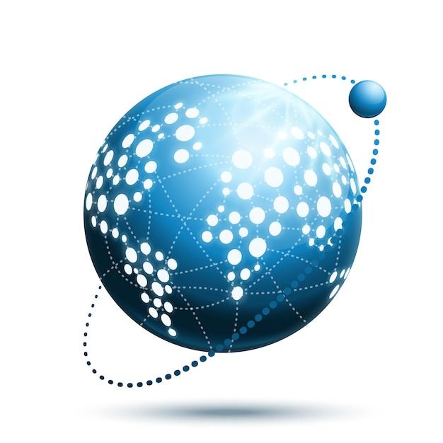 Icône du monde abstrait Vecteur gratuit