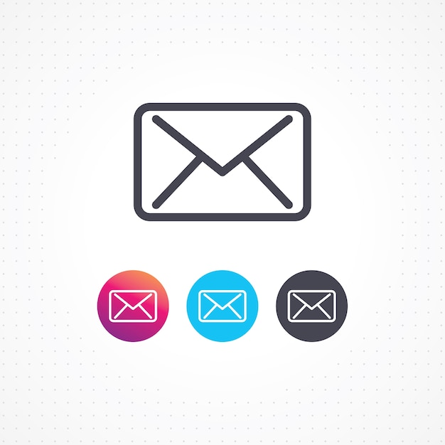 Icone De Mail Pour Les Cartes Visite Et Sites Web