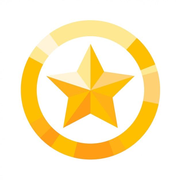 Icône étoile jaune Vecteur Premium