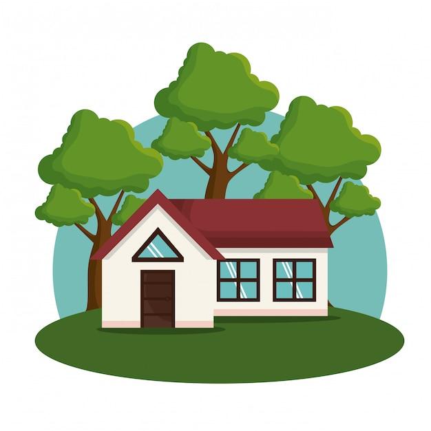 Icône de façade de maison Vecteur gratuit