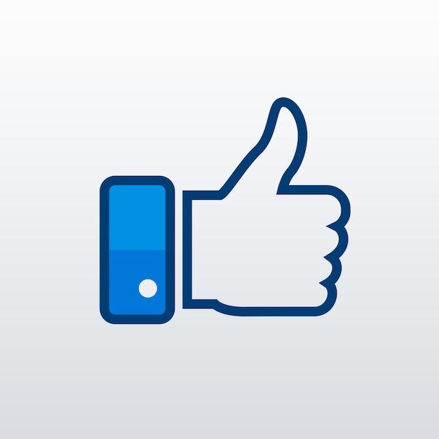 L'icône facebook like Vecteur gratuit