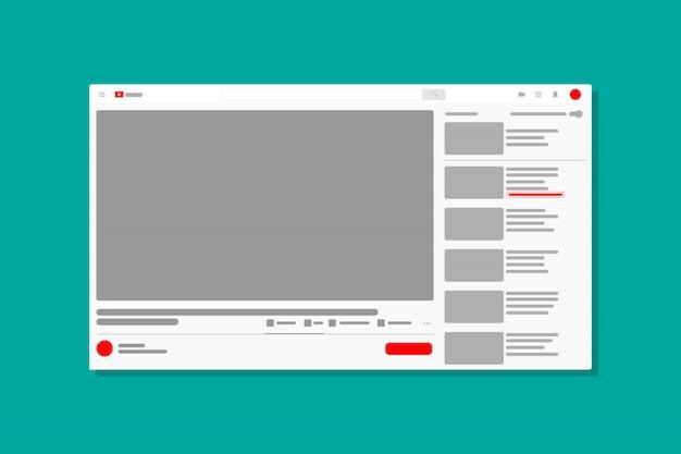 Icône De La Fenêtre Du Média Vidéo Du Navigateur Vecteur Premium