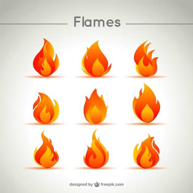 L'icône de flamme vecteur Vecteur gratuit