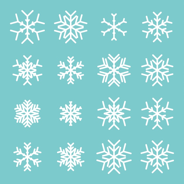 Icône de flocons de neige Vecteur Premium