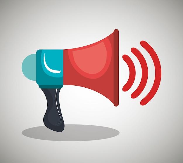 Icône de haut-parleur Vecteur gratuit