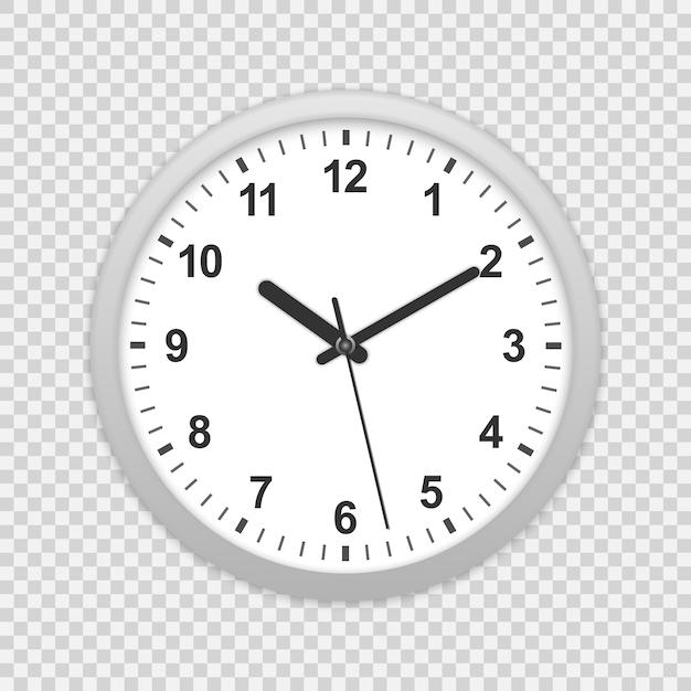 Icône d'horloge murale de bureau. Vecteur Premium