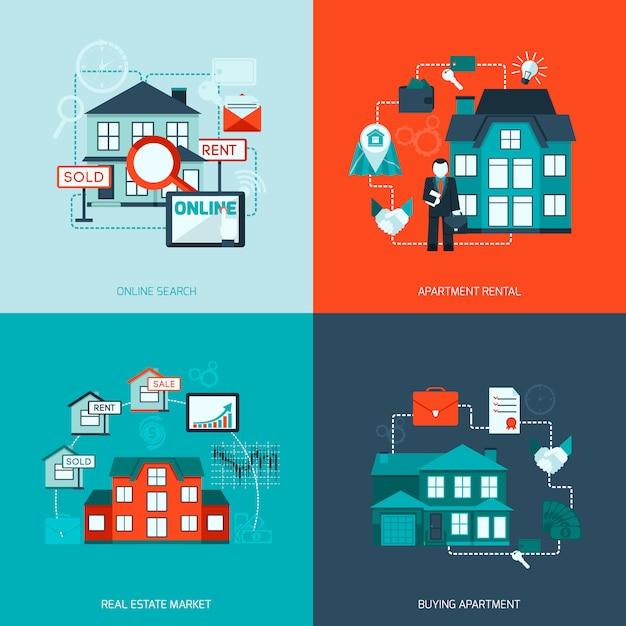 Icône de l'immobilier Vecteur gratuit