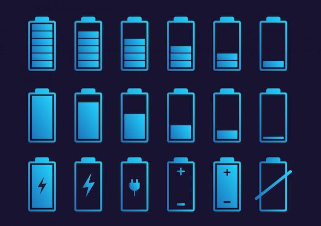 Icône D'indicateur De Charge De La Batterie. Vecteur Premium