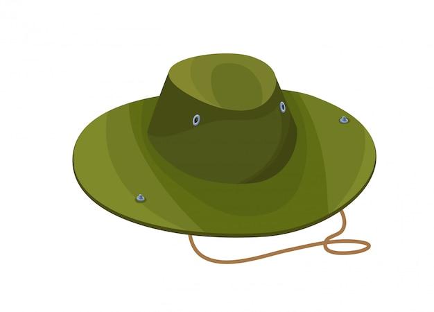 Icône isolé de camouflage chapeau en style cartoon Vecteur Premium