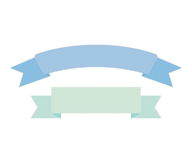 Icône isolé de décoration cadre ruban Vecteur gratuit
