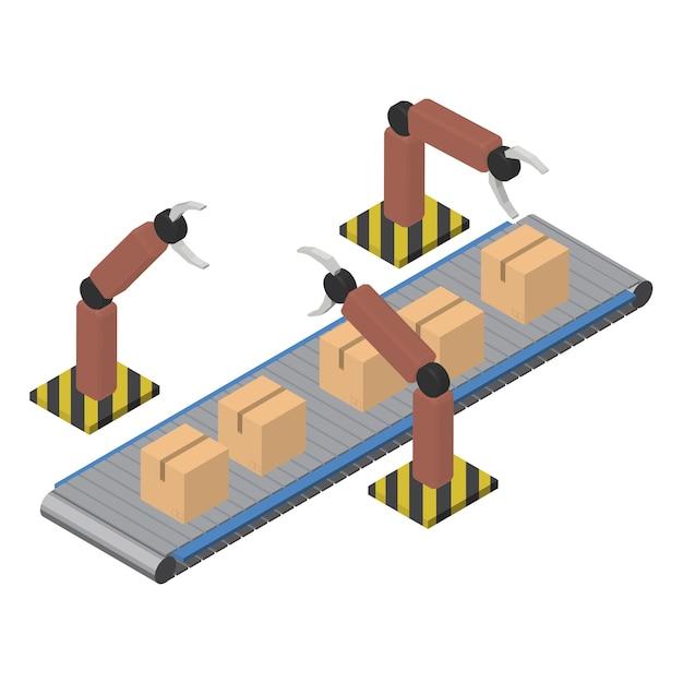 Icône isolé industriel de logistique affaires sur fond Vecteur gratuit
