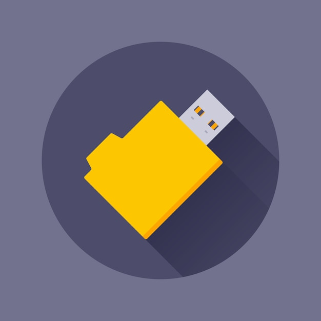 Icône De Lecteur Flash Usb Vecteur Premium