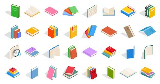 Icône de manuels scolaires sur fond blanc Vecteur Premium