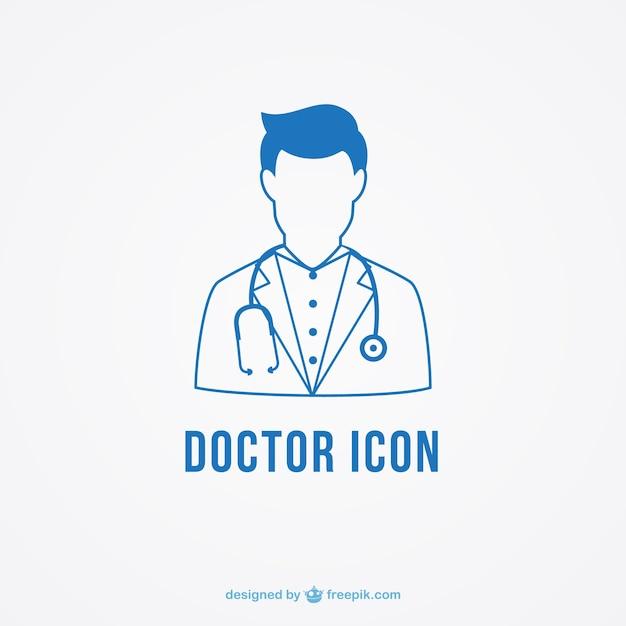 L'icône de médecin Vecteur gratuit